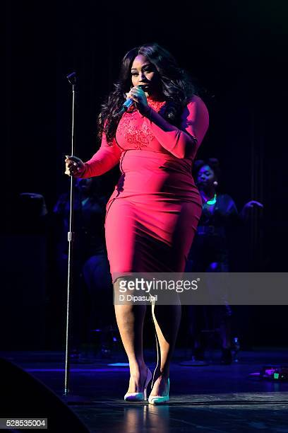 Jazmine Sullivan performs onstage at the 2016 Grammy Park in Brooklyn at Kings Theatre on May 5 2016 in the Brooklyn borough of New York City