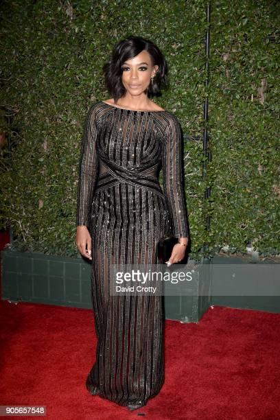 Jazmyn Simon attends the 49th NAACP Image Awards Arrivals at Pasadena Civic Auditorium on January 15 2018 in Pasadena California