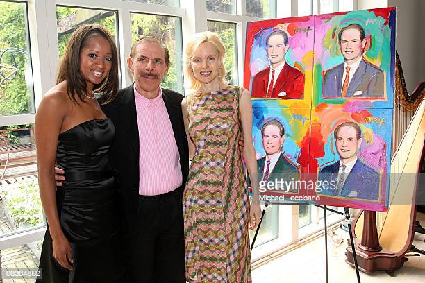 Jazqueline Page artist Peter Max and his wife Mary Max attend the Duke Of Edinburgh's Award Luncheon hosted by Carte Blanche International at the...