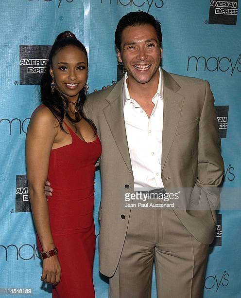 Jazsmin Lewis and Benito Martinez during Macy's and American Express Passport Gala Arrivals at Barker Hangar in Santa Monica California United States