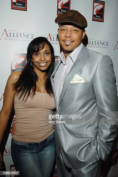Jazsmin Lewis and Terrence Howard during Jesse Raudales and Terrence Howard Peace for the Children Art Show at PounderKone Artspace in Glendale...