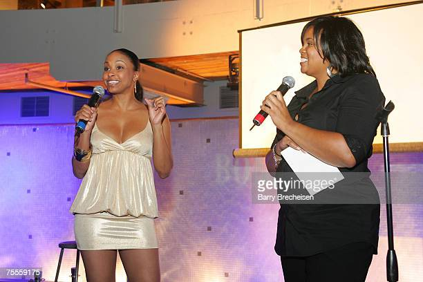 Jazsmin Lewis at the Bombay Sapphire and George Daniels' 'Inspired In Chicago event on July 1517 a celebration of Art Muisc and Film showcasing the...