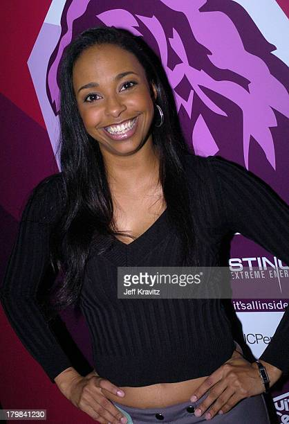 Jazsmin Lewis during The 46th Annual Grammy Awards Westwood One Backstage at the Grammys Day 1 at Staples Center in Los Angeles California United...