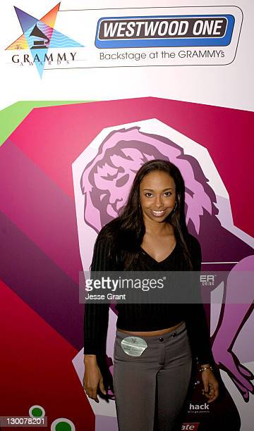 Jazsmin Lewis during Westwood One Backstage at the GRAMMYS at Staples Center in Los Angeles California United States