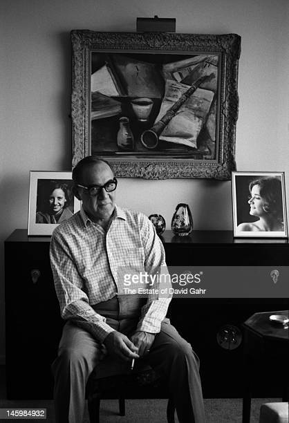Jazz and swing musician clarinetist and bandleader Benny Goodman poses for a portrait at home on August 14 1967 in New York City New York
