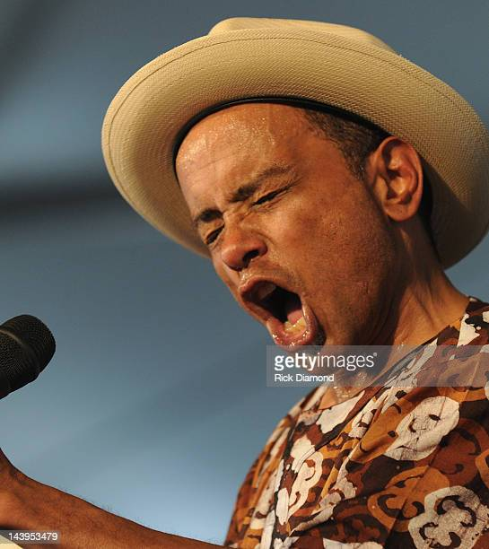 Jazz Artist John Boutte' performs during the 2012 New Orleans Jazz Heritage Festival Day 6 at the Fair Grounds Race Course on May 5 2012 in New...