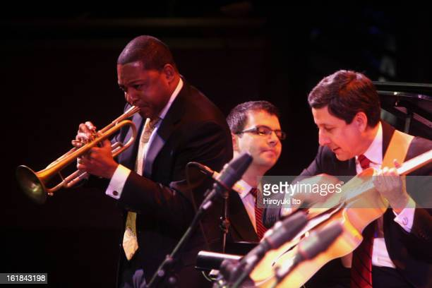 Jazz at Lincoln Center Orchestra with Wynton Marsalis performing in the program Best of the Big Bands at the Rose Theater on Friday night November 16...