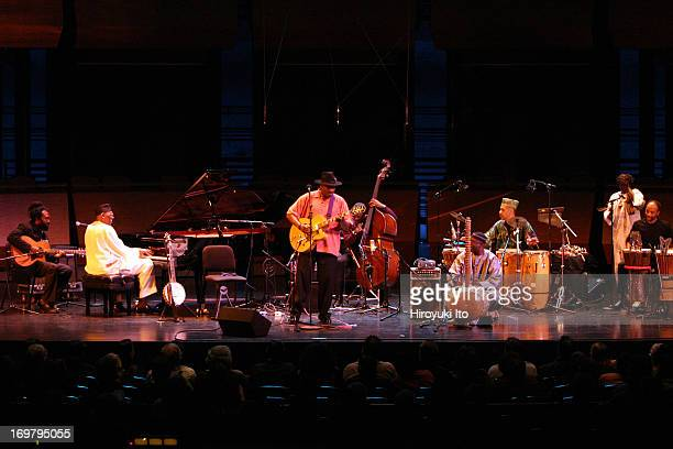 Jazz at Lincoln Center presents 3 Shades of Blues Roots at Rose Theater on Monday night October 25 2004This imageFrom left Corey Harris Randy Weston...