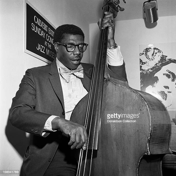 Jazz bass player Major Holley performs at a Calvert Extra's Sunday Concert with Roy Eldridge at the New York Jazz Museum in 1972 in New York New York