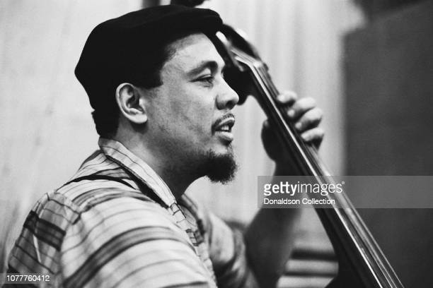 Jazz bassist Charles Mingus records at the Columbia Records studio in 1959 in New York City New York