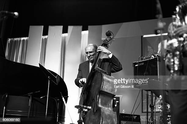Jazz bassist Larry Ridley performs at the 31st Anniversary Celebration Jazz Concert at Walter E Washington Convention Center on September 15 2016 in...