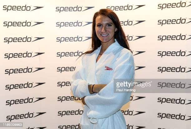 Jazz Carlin 2016 Olympic Medalist Speedo ambassador during the biennial Hope For Youth Charity Swim sponsored by Speedo at London's Porchester Hall...