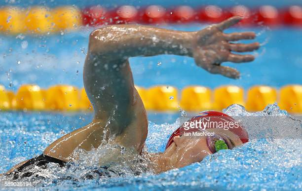 Jazz Carlin of Great Britain competes in the final of the Women's 800m Freestyle on Day 7 of the Rio 2016 Olympic Games at the Olympic Aquatics...