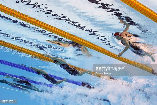 Jazz Carlin of Great Britain Katie Ledecky of the United States Leah Smith of the United States Brittany MacLean of Canada and Bolglarka Kapas of...