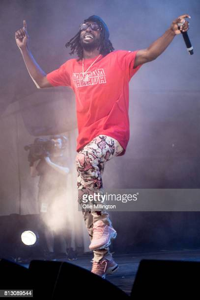 Jazz Cartier perform on the Lotto Stage in the Parc de la Francophoni during Day 6 of the 50th Festival d'ete de Quebec on July 11 2017 in Quebec...