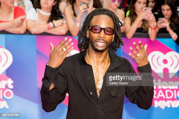 TORONTO ON JUNE 18 Jazz Cartier Performer Nominee walks the red carpet at the 2017 iHeartRadio Much Music Video Awards in Toronto on June 18 2017