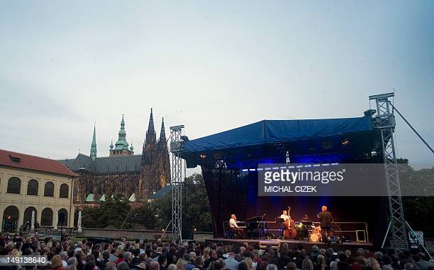 Jazz concert at Hradcany Castle in front of Saint Vitus Cathedral on June 19 2012 AFP PHOTO MICHAL CIZEK