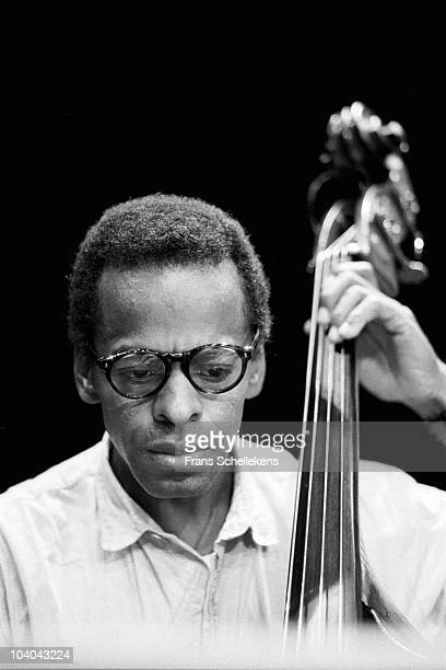 Jazz double bass player Cecil McBee performs on stage at Meervaart on August 28 1984 in Amsterdam, Netherlands.
