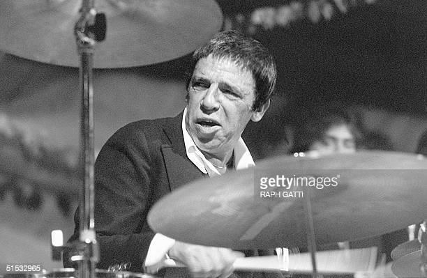 US jazz drummer Buddy Rich performs 13 July 1978 at the Nice Jazz Festival Born Bernard Rich to vaudevillians Robert and Bess Rich 30 September 1917...