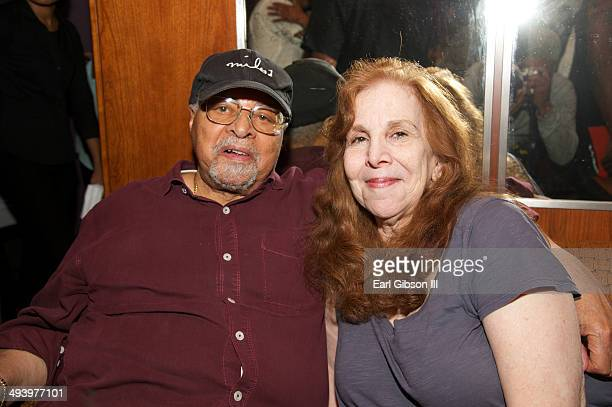 Jazz Drummer Jimmy Cobb and his wife attend the after party for the NYC Block Party Celebrating Miles Davis Way Unveiling on May 26 2014 in New York...