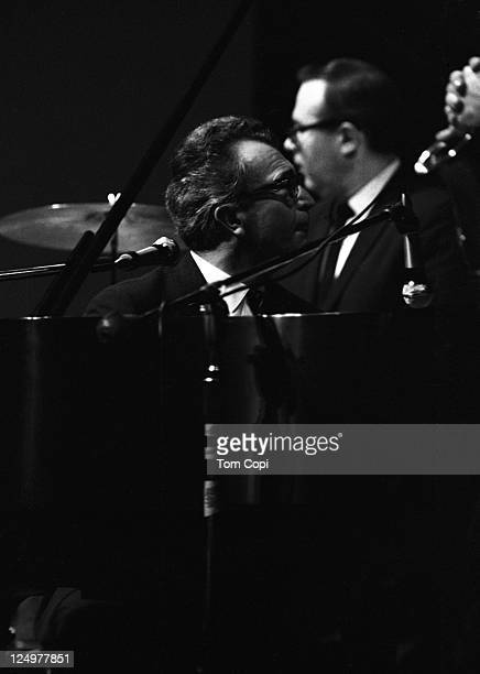 Jazz drummer Joe Morello performs with pianist Dave Brubeck and the Dave Brubeck Quartet in July 1967 at the Newport Jazz Festival in Newport, Rhode...