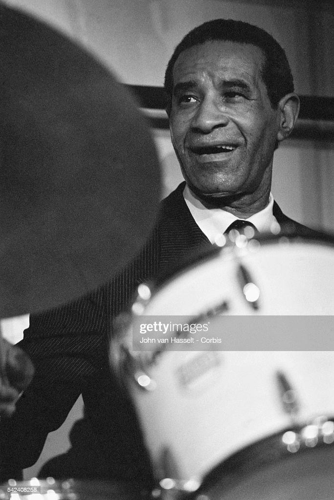 Jazz drummer Max Roach performs at the New Morning club in Paris, France.