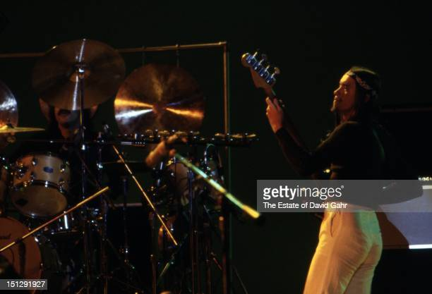 Jazz electric bassist Jaco Pastorius performs at Havana Jam, an historic three-day series of music concerts in Cuba sponsored by the American music...