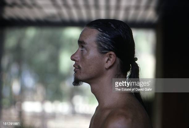 Jazz electric bassist Jaco Pastorius poses for a portrait at a beach near Havana before performing at Havana Jam, an historic three-day series of...