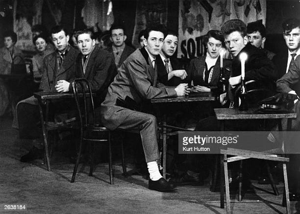 Jazz fans at Club Martinique on Tyneside in Newcastle Original Publication Picture Post 7657 Jazz On Tyneside pub 1955