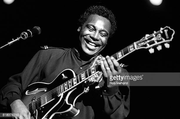 Jazz guitarist George Benson performs on stage at Ahoy Rotterdam Netherlands 28th October 1988