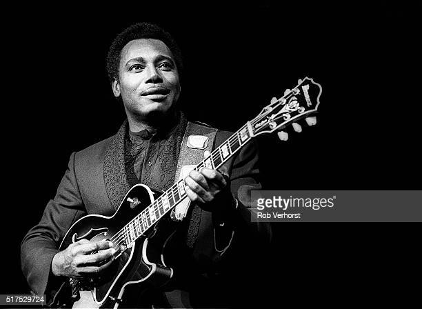 Jazz guitarist George Benson performs on stage at the Congresgebouw The Hague Netherlands 1st December 1986