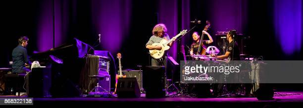 US jazz guitarist Pat Metheny performs live during a concert at the Admiralspalast on October 30 2017 in Berlin Germany