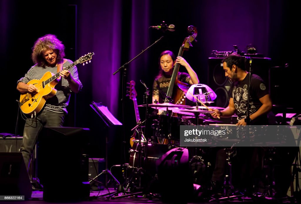 US jazz guitarist Pat Metheny performs live during a concert at the Admiralspalast on October 30, 2017 in Berlin, Germany.