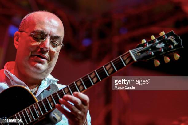 Jazz guitarist Pietro Condorelli performs live at Campania Center in Marcianise near Naples