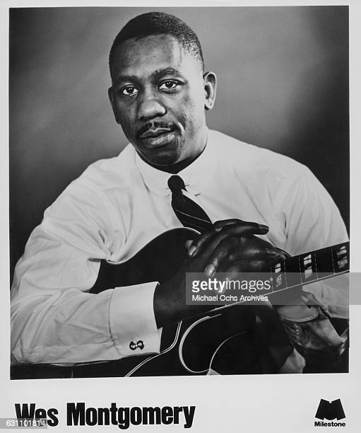 Jazz guitarist Wes Montgomery poses for a Milestone Records publicty still for his album 'Encores in 1963
