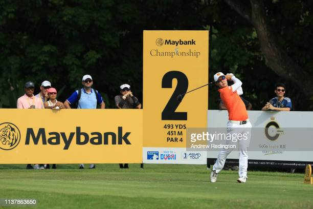 Jazz Janewattananond of Thailand in action during Day Four of the Maybank Championship at Saujana Golf Country Club Palm Course on March 24 2019 in...