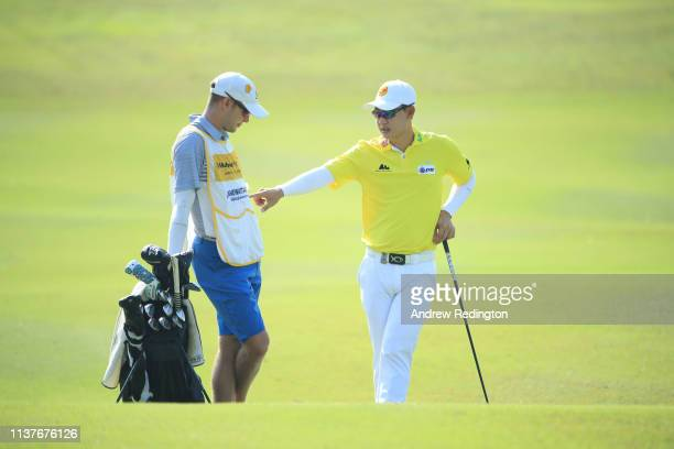 Jazz Janewattananond of Thailand is pictured on the first hole on Day Three of the Maybank Championship at Saujana Golf Country Club Palm Course on...