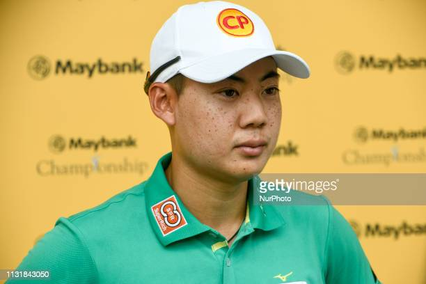 Jazz Janewattananond of Thailand takes an interview on Day One of the Maybank Championship at Saujana Golf amp Country Club on March 21 2019 in Kuala...
