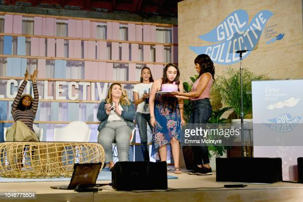 Jazz Jennings celebrates her brithday at Dove's Launch of Girl Collective The First Ever Dove SelfEsteem Project MegaEvent on October 6 2018 in Los...