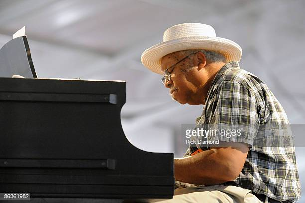 Jazz Legend Ellis Marsalis performs at the 2009 New Orleans Jazz Heritage Festival at the Fair Grounds Race Course on May 3 2009 in New Orleans