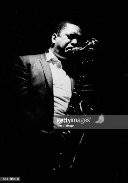 Jazz legend John Coltrane in performance at the Drome Lounge on Dexter Avenue in Detroit in August 1966