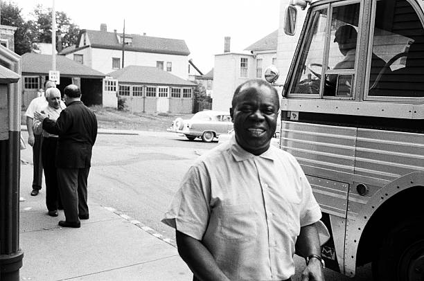 Louis Armstrong Arrives At A Church Service