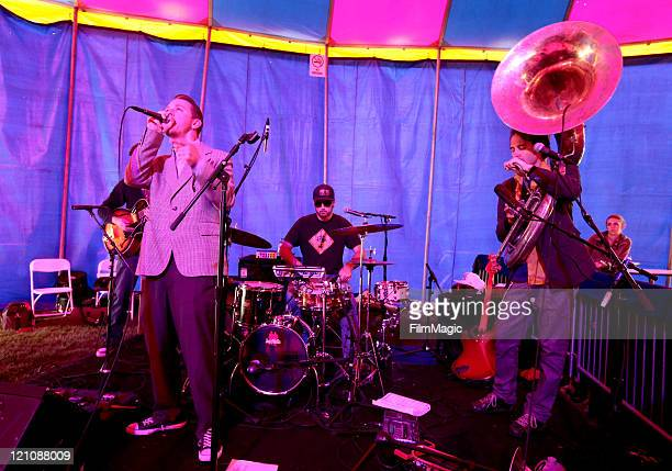 Jazz Mafia performs at The Barbary Stage during the 2011 Outside Lands Music And Arts Festival held at Golden Gate Park on August 13 2011 in San...