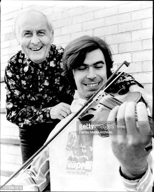 Jazz Meets Rock Stephane Grappelli with Peter Knight of the group Steeleye Span Stephane Grappelli the 67yearold jazz violinist and the pop group...