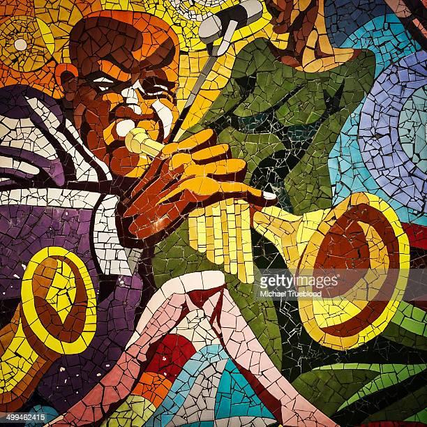 jazz mosaic - austin texas stock pictures, royalty-free photos & images