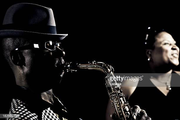 jazz music performers - jazz stock pictures, royalty-free photos & images