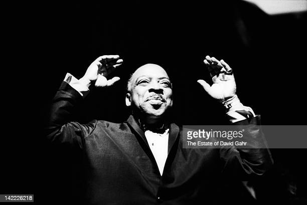Jazz musician and composer Count Basie performs on New Years Eve 1963 in New York City New York