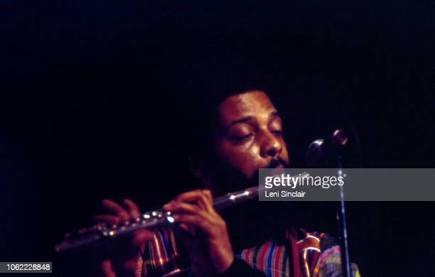Jazz musician and composer Hamiet Bluiett performs on flute at the Rainbow Room in Detroit circa 1974