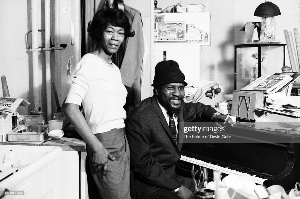Jazz musician and composer Thelonious Monk and his wife Nellie Monk pose for a portrait at home in November, 1963 in New York City, New York.