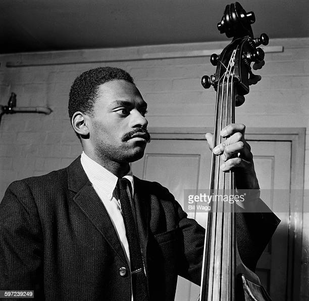 Jazz musician Bobby Ore on the double bass circa 1960